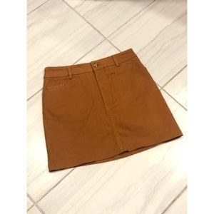 Mustard Denim Skirt - NWOT